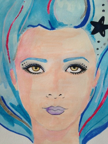fashion illustrations, illustrazioni moda, sirena, mermaid